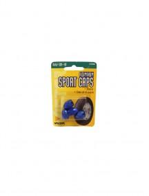 Aluminum Sport Caps 4 pk Blue