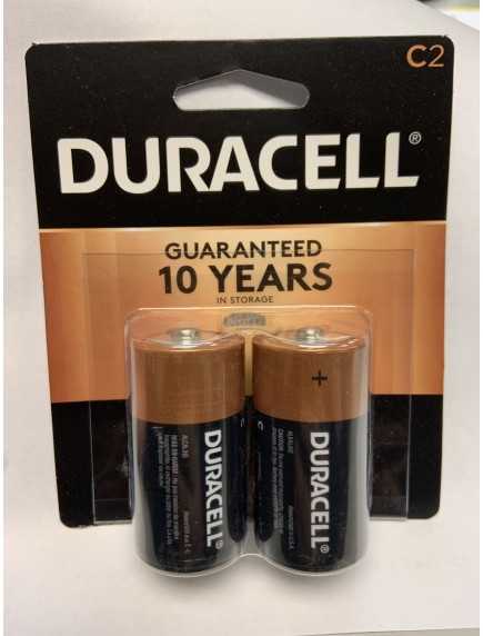 Duracell C Batteries 2 pk