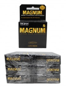 Trojan Magnum Lubricated Latex Condoms 6 pks of 3 Condoms