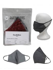 Goodfellow & Co Adult Reusable Fabric Face Masks 2pk Size L/XL - Burgundy & Grey/Black