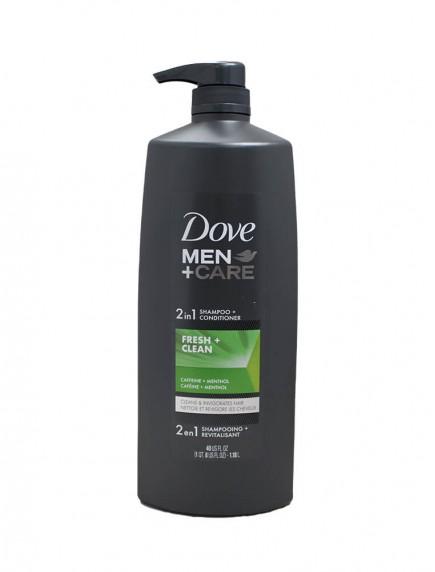 Dove Men +Care 2 in 1 Shampoo + Conditioner 40 fl oz - Fresh + Clean