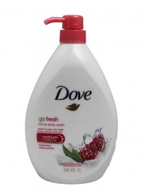 Dove 1 Liter Body Wash Pump - Go Fresh Revive Pomegranate & Lemon Verbena