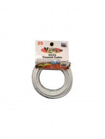 Coaxial Cable 25 ft White