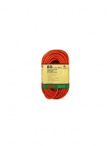 Electrix 80 ft Indoor/Outdoor Grounded Orange Extension Cord
