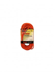 Electrix 50 ft Indoor/Outdoor Grounded Orange Extension Cord