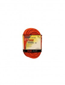 Electrix 100 ft Indoor/Outdoor Grounded Orange Extension Cord