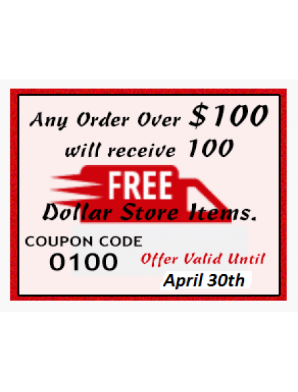 Free Items for Orders Over $100