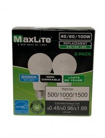 Maxlite 3 Way LED Bulb 4/8/14w 2 pk