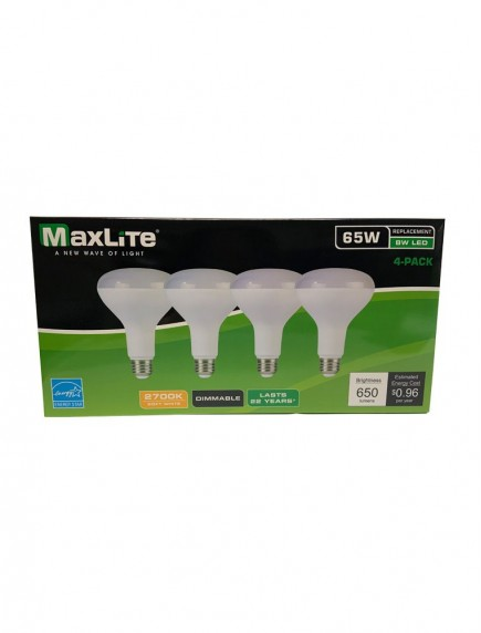 Maxlite LED Directional BR30 Lamp 8w/65w 4 pk