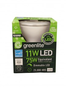 Greenlite LED Indoor & Outdoor Floodlight Bulb 11w/75w 1 ct