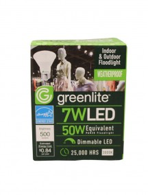 Greenlite LED Indoor & Outdoor Floodlight Bulb 7w/50w 1 ct