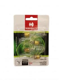 Havells Clear Night Light Bulbs 4 pk