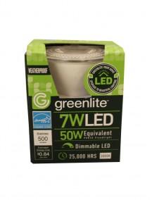 Greenlite LED Weatherproof PAR20 Floodlight Bulb 7w/50w 1 ct