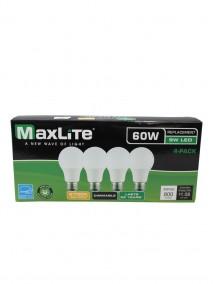 Maxlite LED A19 9w/60w 4 Pk Dimmable Light Bulbs