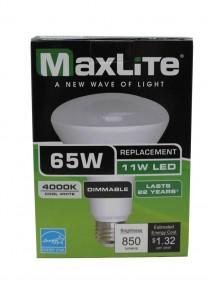 Maxlite LED BR30 11w/65w Dimmable Light Bulb