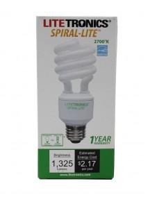 Litetronics Spiral-Lite Compact Fluorescent 18w/75w Light Bulb
