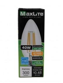 Maxlite LED B10 4w/40w Dimmable Light Bulb