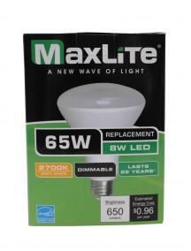 Maxlite LED BR30 8w/65w Dimmable Light Bulb
