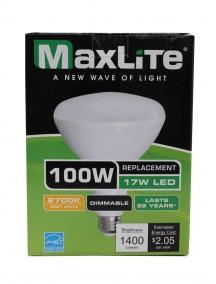 Maxlite LED BR40 17w/100w Dimmable Light Bulb