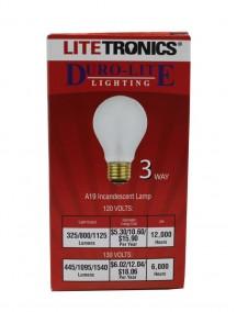 Litetronics A19 Incandescent 3 Way 50w/100w/150w Light Bulb