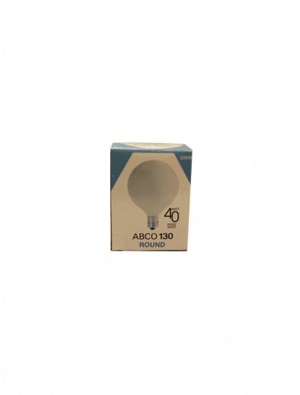 Abco 130 Round Candelabra Base Bulb - Inside White 40 watt