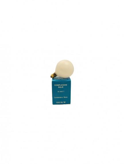 Complexion Bulb - White Candelabra Base 15 watt