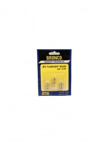 Bronco 3 pc Flashlight Bulbs