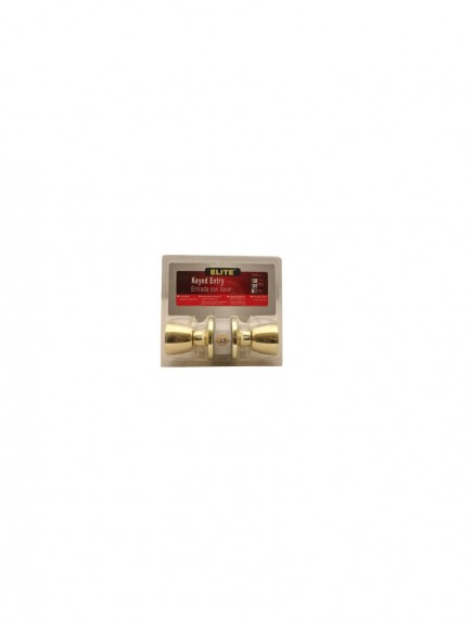 Elite Keyed Entry Doorknob Gold