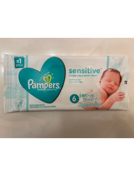 Pampers Sensitive Baby Wipes 6 ct