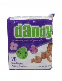 Dandy Diapers 20 ct Size 3