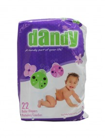 Dandy Diapers 22 ct Size 2