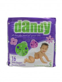 Dandy Diapers 16 ct Size 5