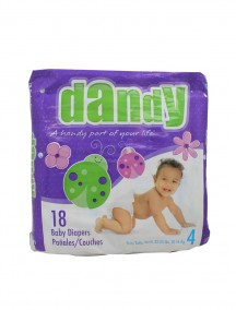 Dandy Diapers 18 ct Size 4