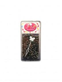 Hair Beads Round Black