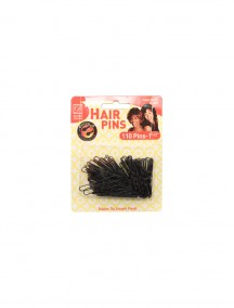 Hair Pins Black 110 ct 1 1/2""