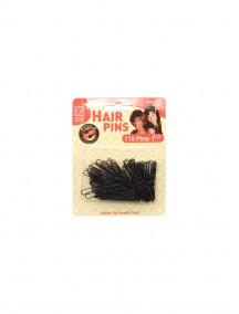 """Hair Pins Black 110 ct 1 1/2"""""""