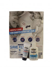 Gentle Care Set - Baby Aquaphor Healing Ointment 0.14 oz & Baby Aquaphor Gentle Wash & Shampoo 0.5 fl oz