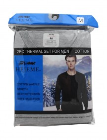 Cotton 2 Pc Thermal Set For Men Size M - Assorted Colors