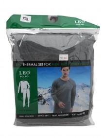 Microfiber Fleece 2 pc Thermal Set for Men Size 2XL - Assorted Colors