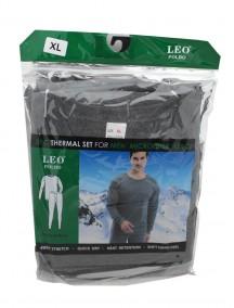 Microfiber Fleece 2 pc Thermal Set for Men Size XL - Assorted Colors