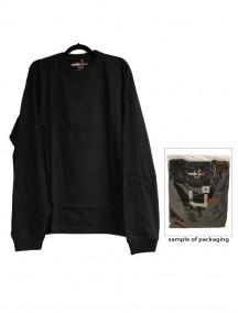 Urban 360 Long Sleeve Crew Neck Shirt Size 3XL - Black Color