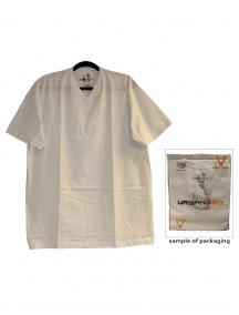Urban 360 Short Sleeve V-Neck Shirt Size 1XL - White Color