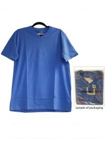 Urban 360 Short Sleeve V-Neck Shirt Size M - Blue Color