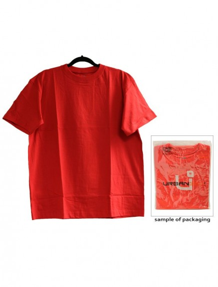 Urban 360 Short Sleeve Crew Neck Shirt Size L - Red Color