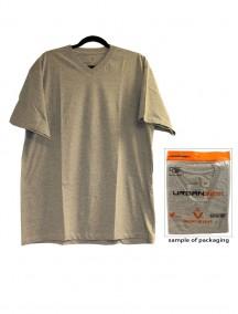 Urban 360 Short Sleeve V-Neck Shirt Size 2XL - Grey Color