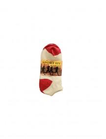 Sport HV Low Cut Socks 3 pk Size 10-13 - White/Pink (Price Per Dozen)