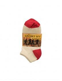 Sport HV Low Cut Socks 3 pk Size 9-11 - White/Pink (Price Per Dozen)