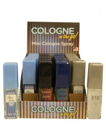Cologne on the Go for Men 0.5 fl oz Mini Cologne Spray - 24 ct Display - #D