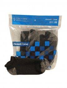 Black Low Cut Socks 6pk Size 9-11