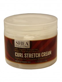 Shea Solutions Curl Stretch Cream with Organic Shea Butter, Argan Oil & Virgin Olive Oil 6 fl oz